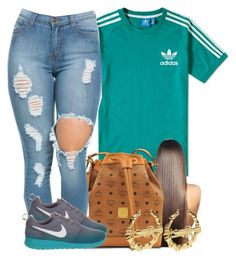 """""""not the best.."""" by yasnikki ❤ liked on Polyvore featuring adidas, MCM and NIKE"""