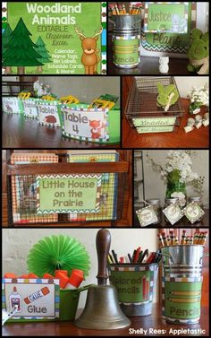 Woodland Animals Editable Classroom Decor - LOVE the way this looks!!! Can't wait to use in my own classroom!