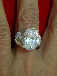 GIA Engagement Ring 11.42ct Oval Diamond Ring 14kt by blueriver47, $157890.00
