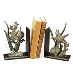 by Seaside Accents by Spi-Home  Pawtucket Shell Bookends