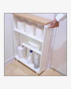 """Yamazaki Home Europe on Instagram: """"TOWER SEMI-CLOSED STORAGE CART Thanks to its modern and slim design it fits even in small bathrooms. Dank seines modernen und…"""" Storage Cart, Small Bathrooms, Tower, Thankful, Europe, Slim, Table, Design, Furniture"""