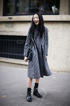 Oversized gingham dress // xiaowen ju  | @printedlove