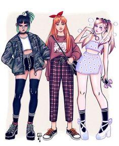 Super Nana, Powerpuff Girls Wallpaper, Applis Photo, Cute Art Styles, Fashion Design Sketches, Power Girl, Character Outfits, Girl Cartoon, Aesthetic Clothes