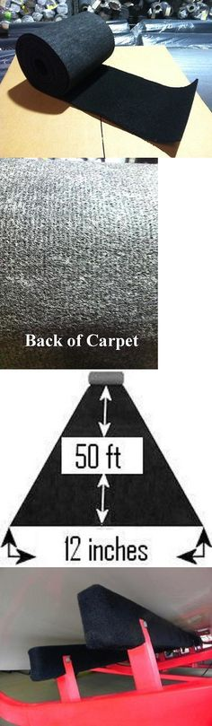 boat parts: Bunk / Carpet For Pwc / Boat Trailer - Black 12 X 50 - Marine/Outdoor BUY IT NOW ONLY: $64.95