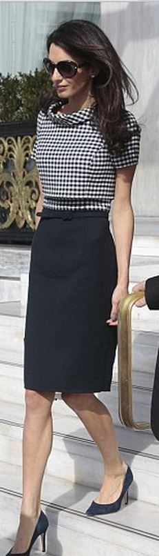 Amal Clooney wearing a Oscar de la Renta dress | House of Beccaria~