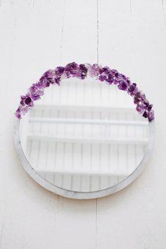 amethyst crystal DIY | designlovefest