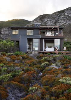 Fynbos house - Green rating: water collection, solar hot water, sustainable timber, indigenous planting