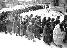 German soldiers surrender at Stalingrad in February 1943 - the battle of Stalingrad was the turning point of the war - This Day in WWII History: Jan 24, 1943: Von Paulus to Hitler: Let us surrender!
