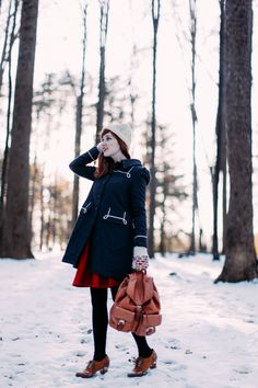 "Blogger @aclotheshorse makes chilly weather look warm and cozy while wearing our ""Moby Coat""! #dearcreatures"