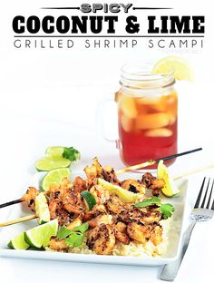 Easy Spicy Coconut and Lime Grilled Shrimp Scampi recipe at TidyMom.net #CoastintoSummer