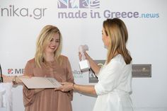 Our CoFounder, Anna Chlioura was awarded with one of the Greek TopWomen Awards for innovative entrepreneurship. Co Founder, Entrepreneurship, Awards, Greek, Anna, Coat, How To Make, Fashion, Moda