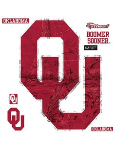 Fathead 8-pc. Oklahoma Sooners Realtree® Logo Wall Decals   Stage Stores