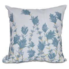 E by Design Botanical Blooms Lavender Decorative Pillow