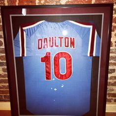Darren Dalton Phillies framed jersey