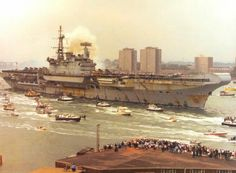 HMS Hermes (R12), Return fron the Falkland Islands, 1982.