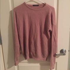 Blush Ollie love it but I look dorky in it. one size. no flaws, no model. *relisting all my stuff because a scammer bought 35 items then canceled.  -NO trades, no lowest, I am very open to offers though. -don't comment if you want to be rude or unresponsive! Brandy Melville Sweaters Crew & Scoop Necks