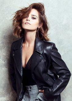 3456049ff20b Jenna Coleman - Harrods Magazine Leather Jacket, Studded Leather Jacket,  Leather Jackets, Leather