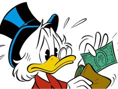The Dutch are generally stereotyped as greedy people. Just like Scrooge McDuck in the picture, the Dutch do not want to spend too much money.