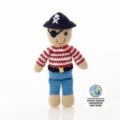 Buy Pebble: Pirate Rattle - Mini online and save! Meet the friendly Pebble Mini Pirate Rattle. The perfect companion for little land-lubbers, his stripey, red shirt and swashbuckling hat are all hand-. Nautical Stripes, Red Stripes, Pirate Hats, Little Unicorn, Baby Sensory, Baby Rattle, Skull And Crossbones, Girls Accessories, Baby Toys