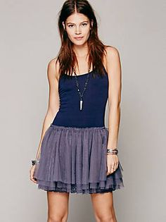 Free People Knit Tulle Slip, $49.95