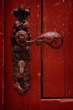 Red door knob