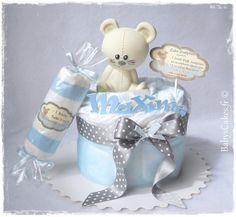 Mini gâteau de couches garçon candy Jo