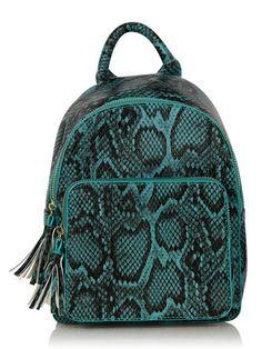 Skinnydip Teal Snake Backpack