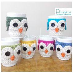 tazas con fundas al crochet - Buscar con Google