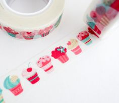 Sweet, colorful cupcake washi tapes - great for wrapping gifts or scrapbooking!  http://www.maigocute.com/collections/washi-tape/products/colorful-cupcake-washi-tape-dessert-washi-scrapbook-journal-masking-tape