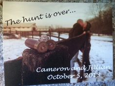 Save the date...the hunt is over <3