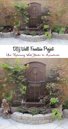 Garden : Japanese Maples Courtyard Garden with Wall Fountain: DIY Wall Fountain…