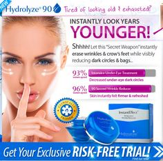Hydrolyze Wrinkle Reducer Review – Anti-Aging Formula For Wrinkles And Dark Spots! #Skincare #Skincaretips #AntiagingCream #AntiwrinkleCream #WrinkleReducer #WrinkleFreeSkin #Review2016