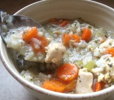 Crockpot Cream of Chicken with Rice Soup
