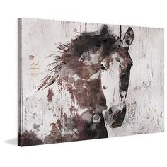 Shop for Marmont Hill - 'Gorgeous Horse' by Irena Orlov Painting Print on Wrapped Canvas. Get free delivery at Overstock.com - Your Online Home Decor Shop! Get 5% in rewards with Club O!