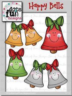Free Clip Art: Happy Bells