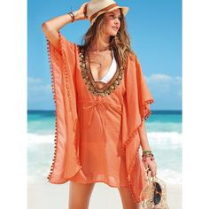 Victoria's Secret The Caftan Dress ❤ liked on Polyvore