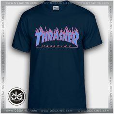 Buy Tshirt Thrasher Blue Tshirt Womens Tshirt Mens Tees size S-3XL