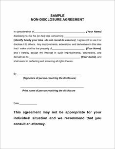 Sponsorship Confidentiality Basic Non Disclosure Agreement