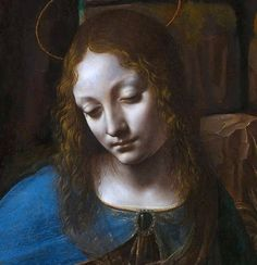 """""""The Virgin of the Rocks"""" (about 1491/2-9 and 1506-8) Full Title: The Virgin with the Infant Saint John the Baptist adoring the Christ Child accompanied by an Angel ('The Virgin of the Rocks')"""" By Leonardo da Vinci, from Italy (1452 - 1519) oil on poplar, thinned and cradled; 189.5 x 120 cm © National Gallery, London Bought, 1880"""