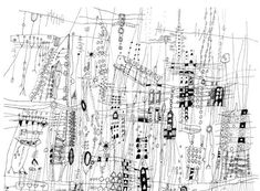 City Life Art Print Fine Art City Drawing Archival Line | Etsy