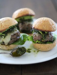 Chimichuri Beef Sliders | http://www.theroastedroot.net