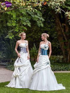 Robe de mariée Eva, robe de mariée couleurs, robes pour mariage champêtre sur…
