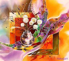 Картины в технике Батик натюрморт 50х50 (4000) копия Л.Горбаля