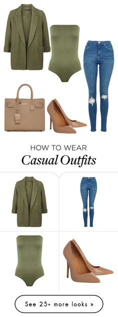 """""""Olive Casual"""" by mpowery on Polyvore featuring WearAll, Topshop, New Look, Office and Yves Saint Laurent"""