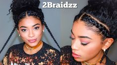 Two Braid Hairstyles - Natural Curly Hair [Video]  Read the article here - http://www.blackhairinformation.com/uncategorized/two-braid-hairstyles-natural-curly-hair-video/