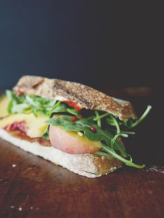 The BLP - Bacon + Lettuce + Peach with Sriracha Mayo by Kitchy Kitchen