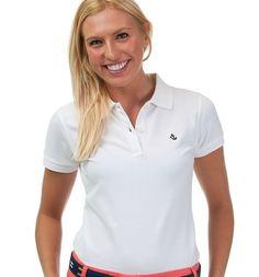 White Women's Polo Shirt | Anchored Style