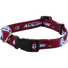 Colorado Avalanche Adjustable Dog Collar - Burgundy