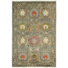 Darya Rugs Suzani Collection Floral Oriental Rug (1,325 CAD) ❤ liked on Polyvore featuring home, rugs, apparel & accessories, no color, flowered rugs, floral area rug, oriental style rugs, asian area rugs and oriental rugs