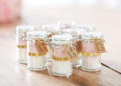 Dye bath salts in your bridal shower colors and present them in the teeniest, most adorable mason jars ever.